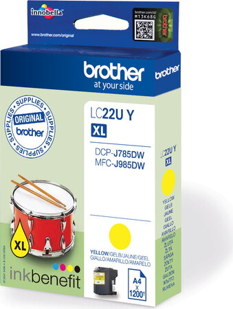 Brother Cartouche d'encre LC-22UY XL - Jaune
