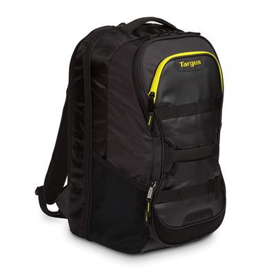 "Targus Work + Play Fitness 15.6"" Laptop Backpack - Black/Yellow"