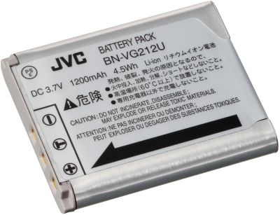 JVC BN-VG212 Lithium-Ion 1200mAh 3.7V batterie rechargeable