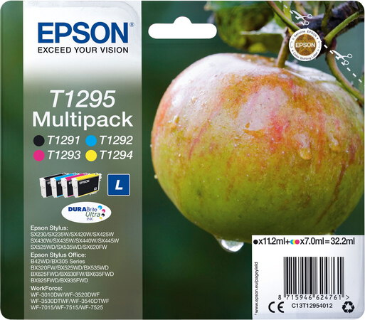 Epson T1295 4-couleurs DuraBrite Ultra Ink Multipack