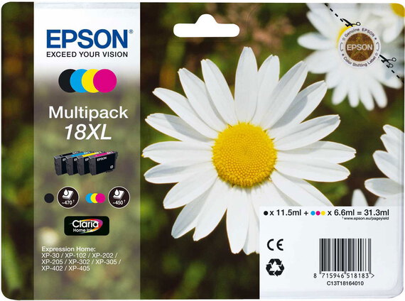 Epson T18 XL 4-couleurs Claria Home Ink Multipack