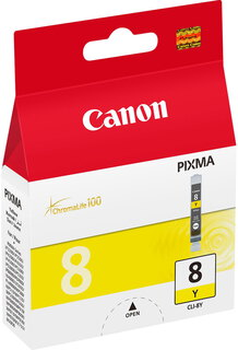 Canon Inktpatroon CLI-8Y ChromaLife 100 - Geel
