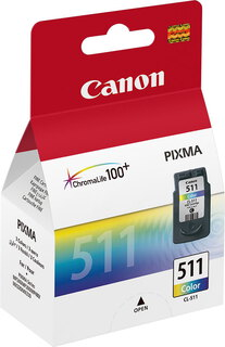 Canon CL-511 3-couleurs ChromaLife 100 Pack