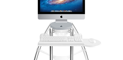 "Rain Design iGo Desk for iMac 27"" Silver (Sitting)"