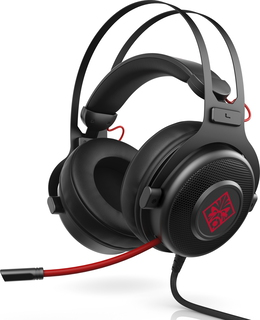 HP HP Omen 800 Binaural Bandeau Noir, Rouge Casque audio