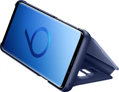 Clear View Standing Cover pour Galaxy S9 - Bleu