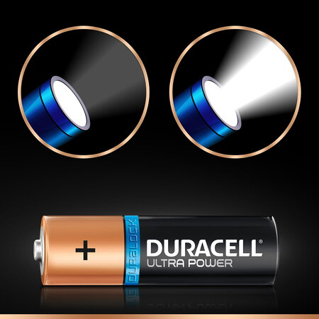 Duracell Ultra Power Piles Alcalinestype AA, Lot de 12 piles