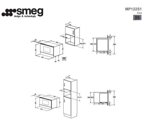Smeg Micro-ondes encastrable MP122S1