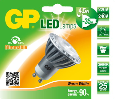 GP Lighting JB1064 4.5W GU10 A Ledlamp