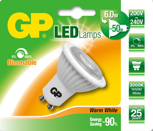 GP Lighting 6W GU10 A Ledlamp