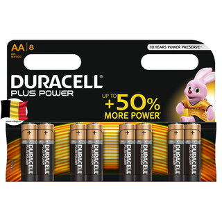 Duracell Plus Power Piles Alcalines type AA, Lot de 8 piles