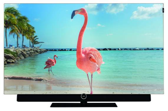 tv bild 455 55 oled tv black