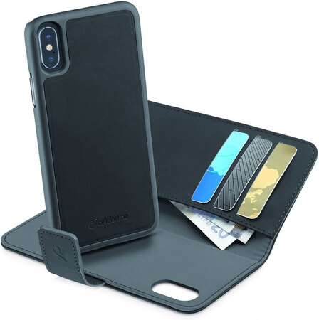Cellular Line Walletcover pour iPhone X - Noir