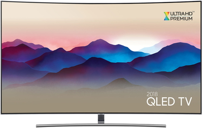 "Samsung TV QE55Q8CN (2018) - 55"" QLED Smart Ambient Mode Curved 4K UHD TV"