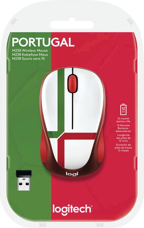 Logitech Draadloze muis M238 Fan Collection - Portugal