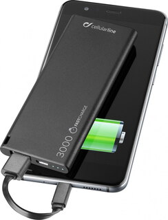 Cellular Line FreePower Slim - 3000 mAh - Zwart