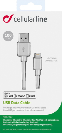 Cellular Line Datakabel Lightning naar USB 2.0