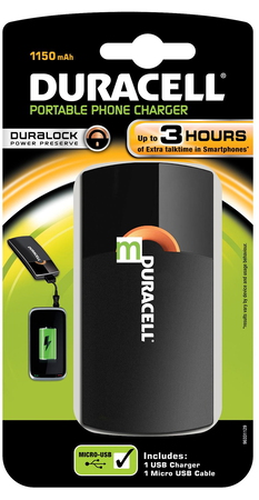 Duracell Instant USB charger - 1.150 mAh