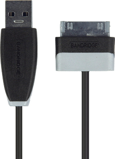 Bandridge Data- en laadkabel Samsung 30-pins naar USB 2.0 - 1 meter