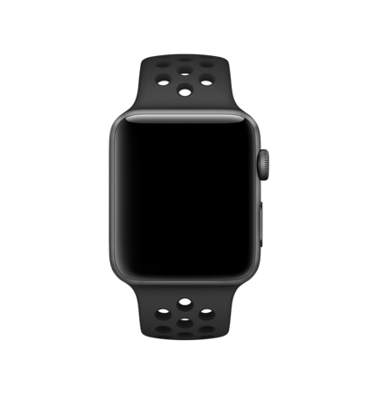 Apple Nike+ (42 mm) Polsbandje Antraciet/zwart
