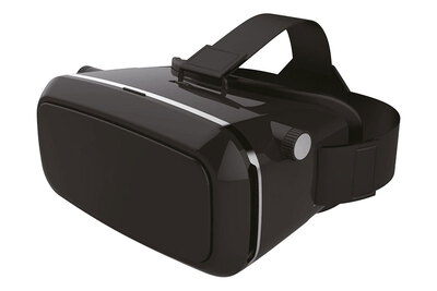 Azuri Universal 3D virtual reality glasses with 4 exchangeable frontplates & fun