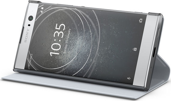 Sony Bookcover pour Xperia XA2 - Argent