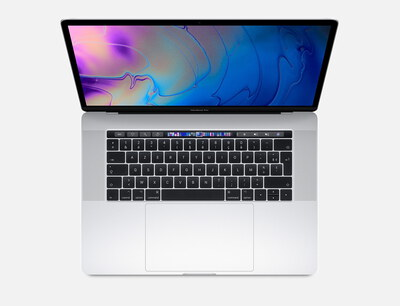 "Apple MacBook Pro (2018) 15,4"" Touchbar 512 Go Argent"