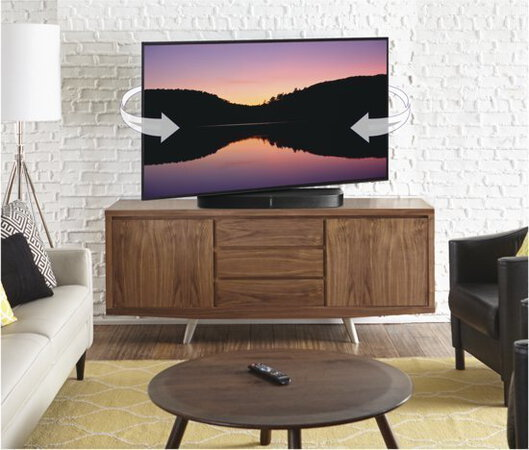 Sanus WSTV B Support TV + Sonos PLAYBASE - Mur