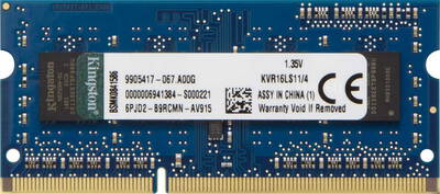 Kingston 4 GB DDR3L 1.600 MHz ValueRAM - KVR16LS11/4