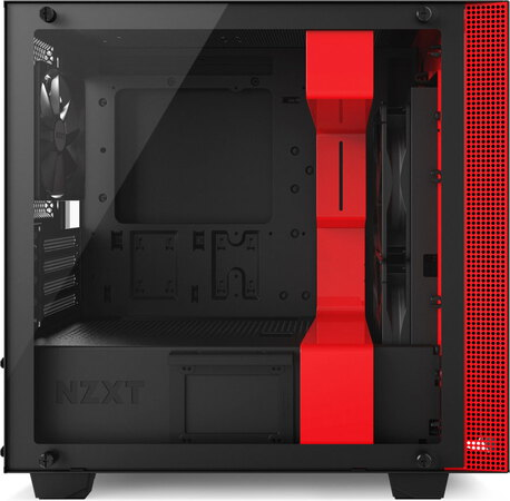 Nzxt H400 Matte Black-Red - CA-H400B-BR