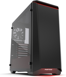 Phanteks Eclipse P400 Tempered Glass Zwart-Rood - PH-EC416PTG_BR