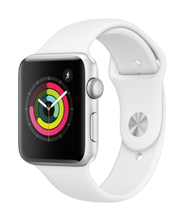Apple Watch Series 3 42mm Zilver/Wit (M/L)