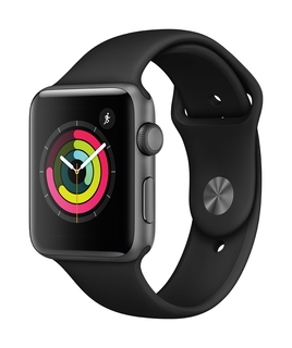Apple Watch Series 3 42mm Space Grey/Zwart (M/L)