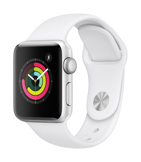Apple Watch Series 3 38mm Argent/Blanc (S/M)