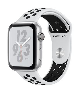Watch Nike + Series 4 44mm Zilver/Wit (S/L)