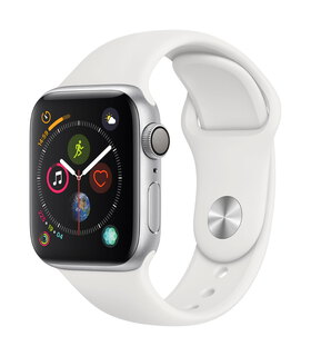 Apple Watch Series 4 40mm Zilver/Wit (S/L)