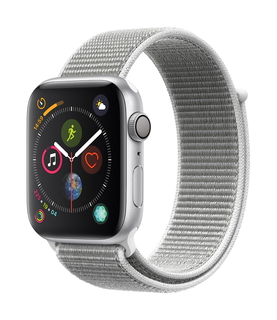 Apple Watch Series 4 44mm Zilver/Wit (S/L)