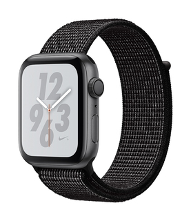 Apple Watch Nike + Series 4 44mm Space Grey/Zwart (S/L)
