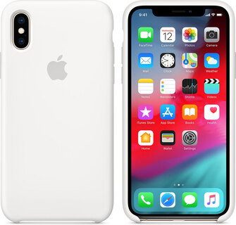 Apple Siliconenhoesje voor iPhone Xs - Wit - MRW82ZM/A