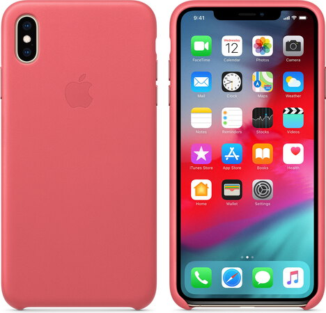 coque iphone xs max rose fluo