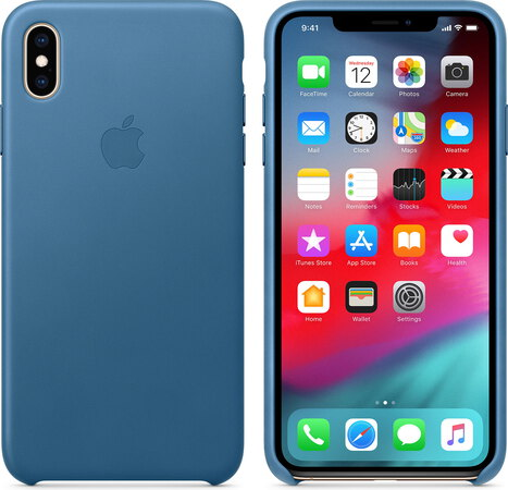 coque iphone xs max apple bleu
