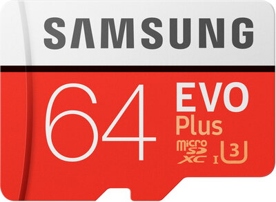 Samsung 64 GB EVO Plus micro SDXC + adapter - MB-MC64GA/EU