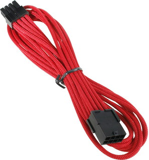 Bitfenix Alchemy 8-pin video card extension cable Red - BFA-MSC-8PEG45RK-RP