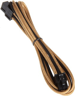 Bitfenix Alchemy 6-pin video card extension cable Gold - BFA-MSC-6PEG45AKK-CK