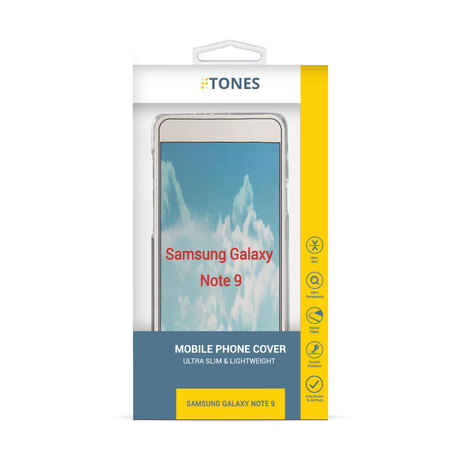 Tones Backcover voor Galaxy Note 9 - Wit