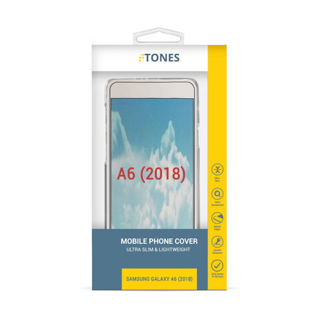 Tones Backcover voor Galaxy A6 (2018) - Wit