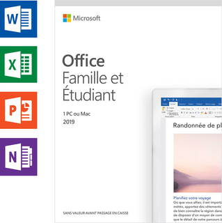 Microsoft Office 2019 Thuisgebruik & Studenten (FR) - 1 PC of Mac