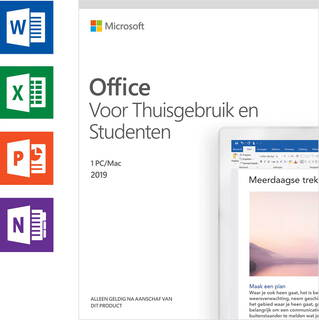 Microsoft Office 2019 Thuisgebruik & Studenten (NL) - 1 PC of Mac