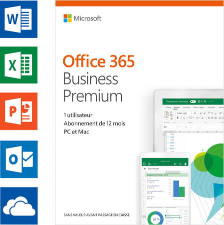 Microsoft Office 365 Business Premium (FR) - 1 jaar