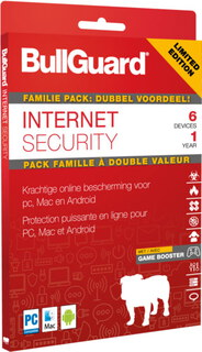 Bullguard Family pack Internet Security + Firewall - 6 PC's - 1 jaar